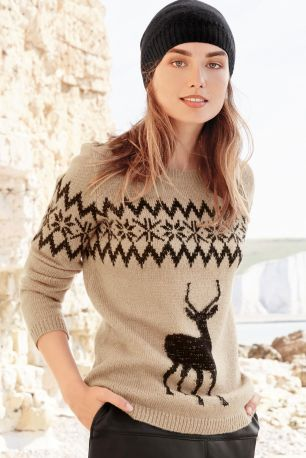 stag-christmas-jumper