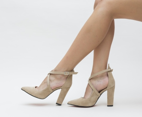 Pantofi Zedo Bej